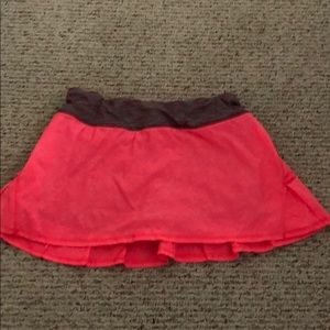 Pleated in back Skirt with built in shorts
